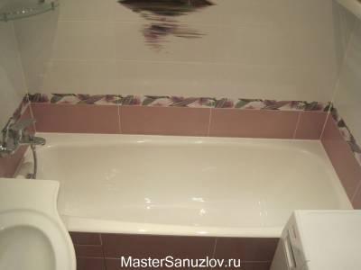 Простой проект ванной комнаты