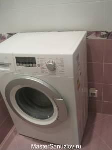 Павильная установка стиральной машины в санузел