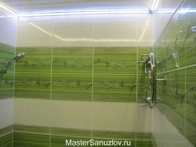 Растительные мотивы в оформлении стен ванной