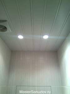 Потолочные светильники в ванную