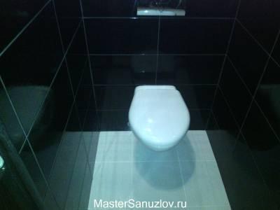 Контрастное черно-белое оформление ванной