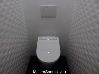 унитаз в черно-белом дизайне туалета
