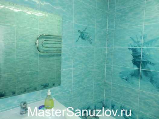 Пример дизайна ванной комнаты