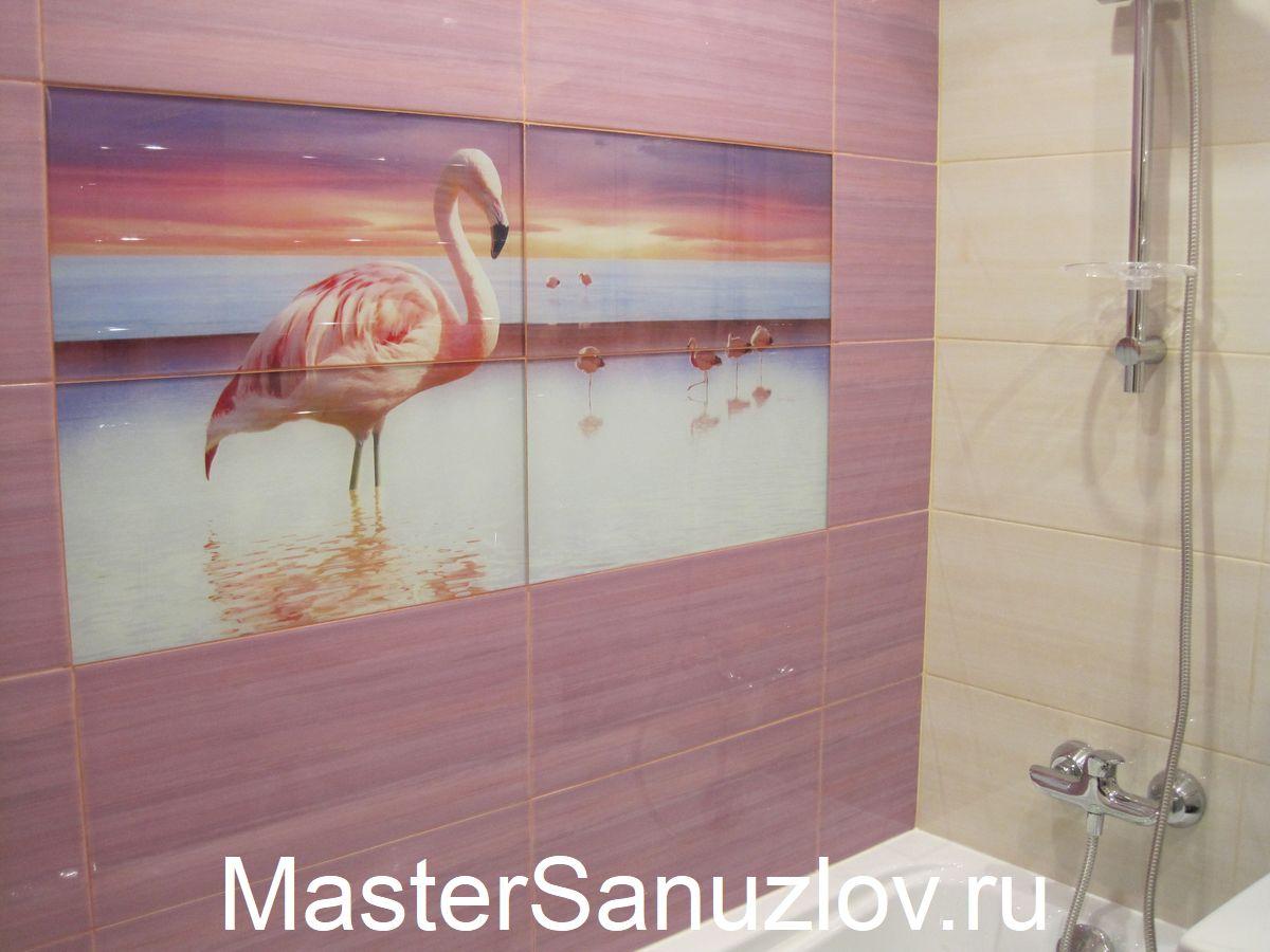 Один из вариантов отделки современной ванной комнаты