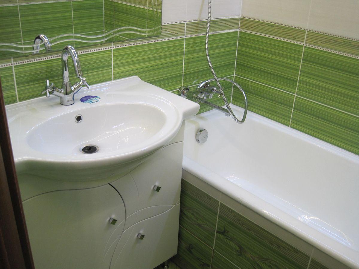 Ремонт ванной комнаты своими руками в брежневке 42