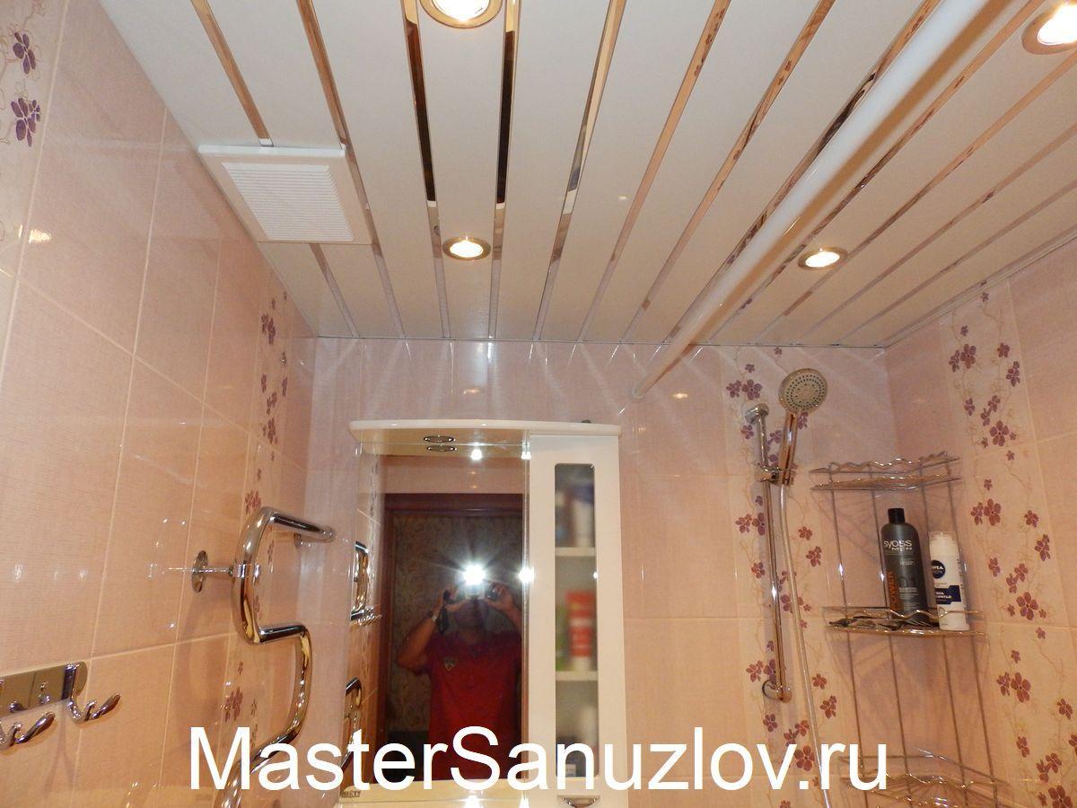 Изображение профессионально смонтированного освещения в ванной комнате